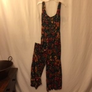 All That Jazz flowered wide leg jumpsuit
